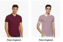 Peter England Men's T-Shirt up-to 50% off on Amazon